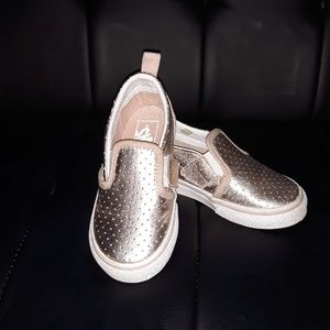 Rose gold  metallic  toddler Van's
